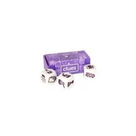 Story cubes (violet): clues