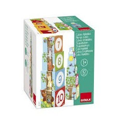 Cubes empilables animaux Goula