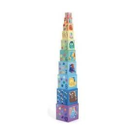 10 cubes empilables Arc en...