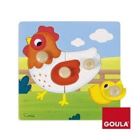 Puzzle poule Goula 1 an